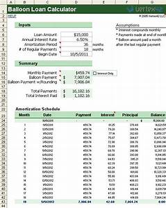 Auto Loan Calculator Free Download Download The Balloon Loan Calculator For Excel From