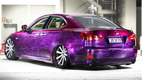 purple lexus slammed rides magazine