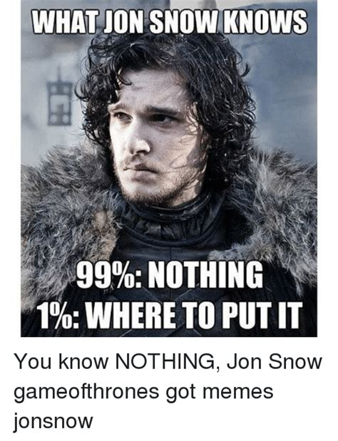 Jon Snow Meme - funny you know nothing jon snow memes of 2017 on sizzle