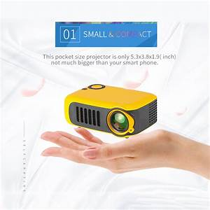A2000 Mini Portable Projector 720p Lcd Lamp Life Home