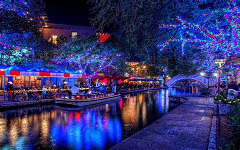 lights at christmas night hd wallpaper zone