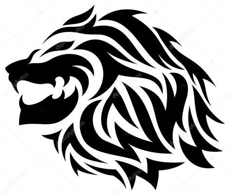 tribal lion tattoo stock vector  stellarstock