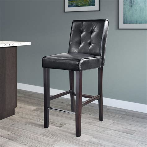 backless leather counter stools black corliving antonio 31 in bar height black bonded leather 7556