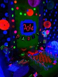 Neon New Years Black light party Glowing glow in the