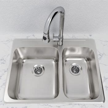 overmount kitchen sink cantrio koncepts stainless steel 1 1 2 bowl overmount 1340