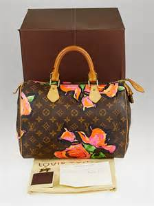 louis vuitton limited edition stephen sprouse roses speedy  bag yoogis closet