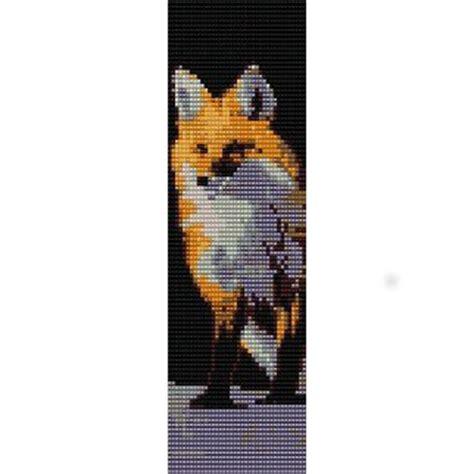 red fox gazing loom beading pattern  cuff bracelet