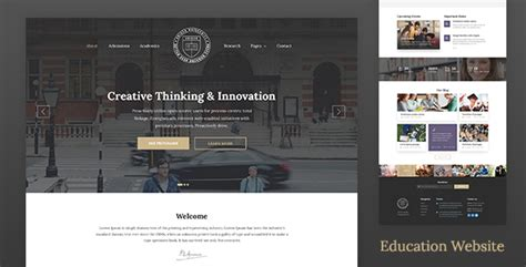 Best Education Website Templates Of 2017 (html