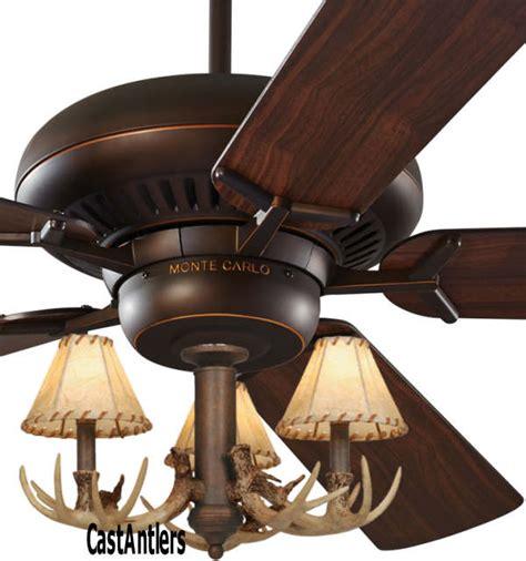 standard size fans 60 quot 3 light antler ceiling fan