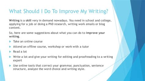 how to improve your writing skills