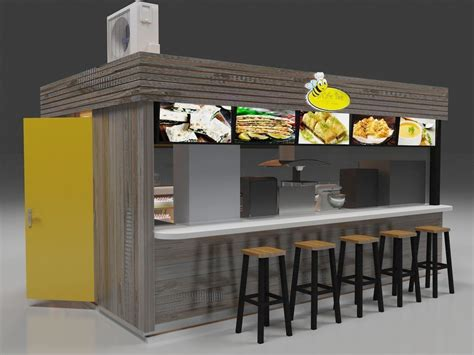 high quality outdoor fast food kiosk  rolling door design