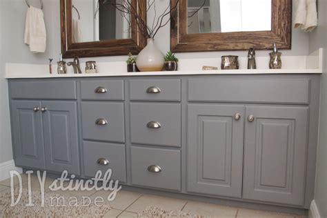 painted bathroom cabinets diystinctly