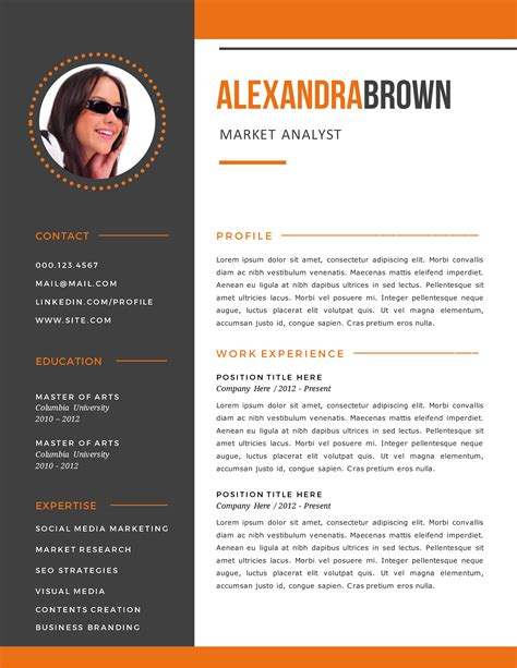 Free downloads of word doc resume templates for all job types here. Elegant Design Of Burnt Orange Resume Examples | Simple ...