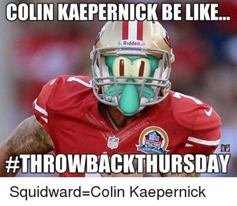 Kaepernick Squidward Meme - funny kaepernick squidward memes of 2017 on sizzle the