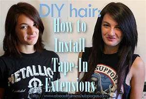 Diy Hair  How To Install Tape