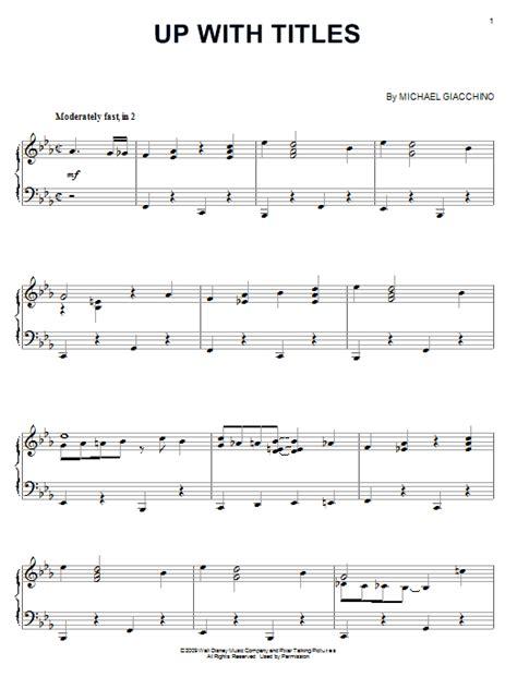 titles sheet   michael giacchino piano