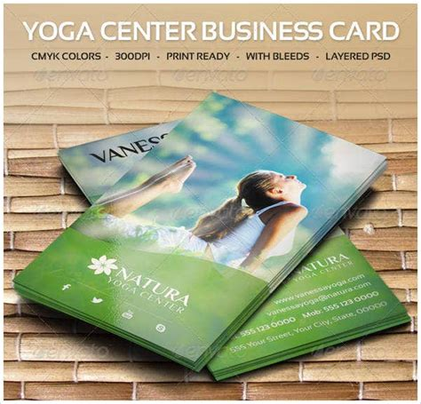 yoga business card templates psd word publisher  premium templates