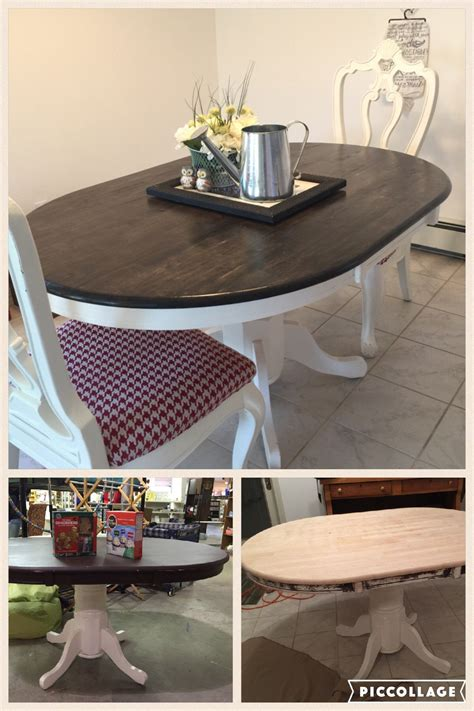 farmhouse oval dining table  thrift store table