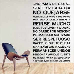 Spanish Version Normas De Casa House Rules Wall Sticker