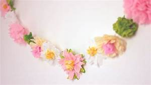 DIY: Paper Flower Garland Cute & Happy Home Decor Ideas