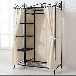 Metall Garderobe Ikea by Metal Wardrobe Hanging Rail Shelves Clothes Storage Flat