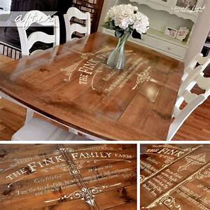25 best ideas about stenciled table on pinterest for Stenciled dining room table