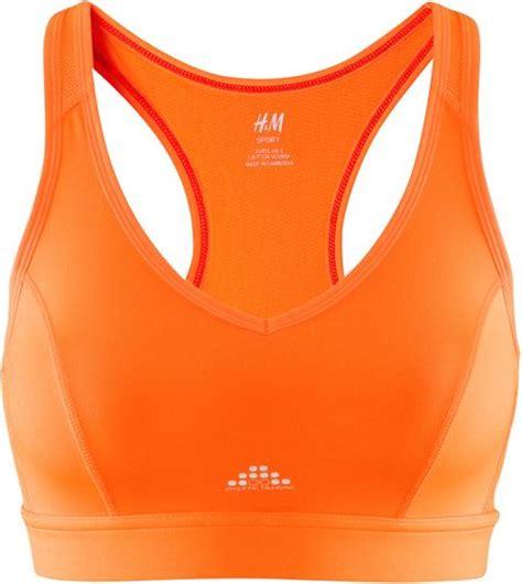 hm sport bra  orange lyst
