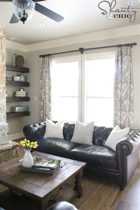 Living Room Curtain Ideas Grey Sofa by Diy Lined Window Panels Shanty 2 Chic