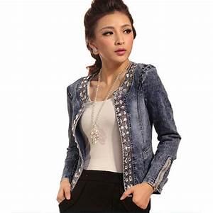 veste julie veste avec paillettes en jean veste femme With derniere tendance mode femme