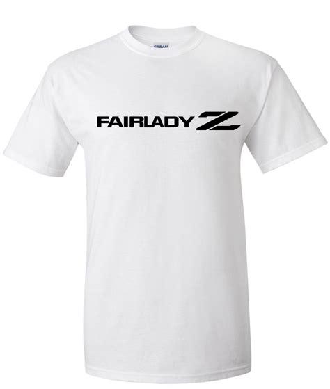 fairlady z white nissan fairlady z logo graphic t shirt supergraphictees