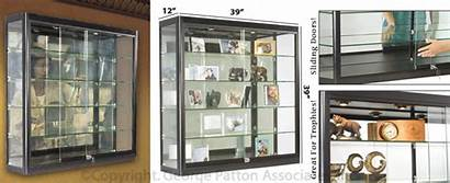 Wall Showcases Commercial Boxes Double Bar Mounting