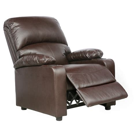 kino real leather recliner w drink holders armchair sofa