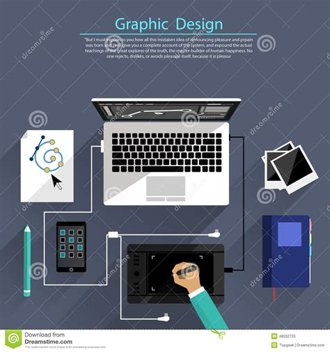 graphic design tools graphic design and designer tools concept stock vector