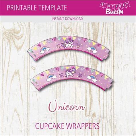 printable rainbow unicorn cupcake wrappers