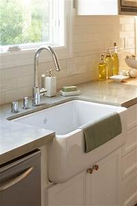 gray quartz countertops design ideas With big farm sink