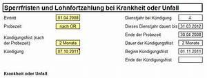 Kündigungsfrist Probezeit Berechnen : rechner k ndigungsfristen excel vorlage zum download ~ Themetempest.com Abrechnung