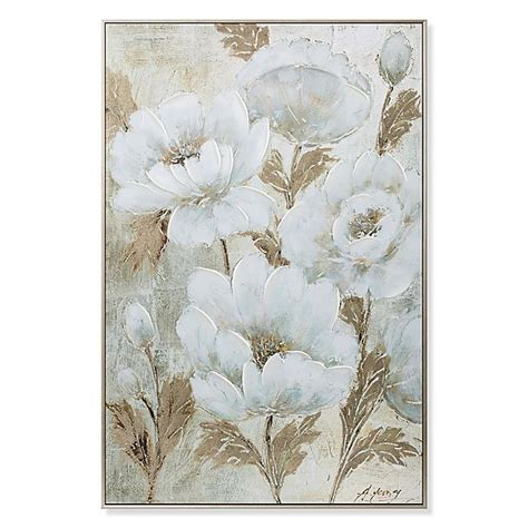 This article would let you explore plenty of ideas to decorate your. Elegant Florals Canvas Wall Art in White/Gold | Bed Bath and Beyond Canada