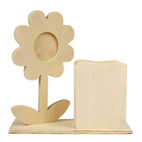 fleur de bureau set de bureau avec fleur porte photo et pot à crayons en