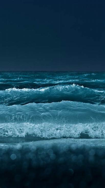 Ocean Night Wallpapers Iphone Android Themed Nature