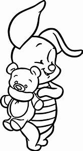 Baby Piglet And Bear Toy Winnie The Pooh Coloring Page ...