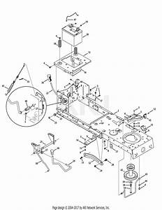 Mtd 13ac76lf055  2010  Parts Diagram For Frame  Pto  U0026 Lift