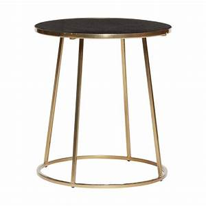 Table Ronde Metal : table basse ronde metal dore marbre noir hubsch 670320 ~ Melissatoandfro.com Idées de Décoration