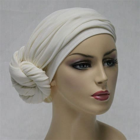 turban diva creme turban ivory turban head wrap chemo