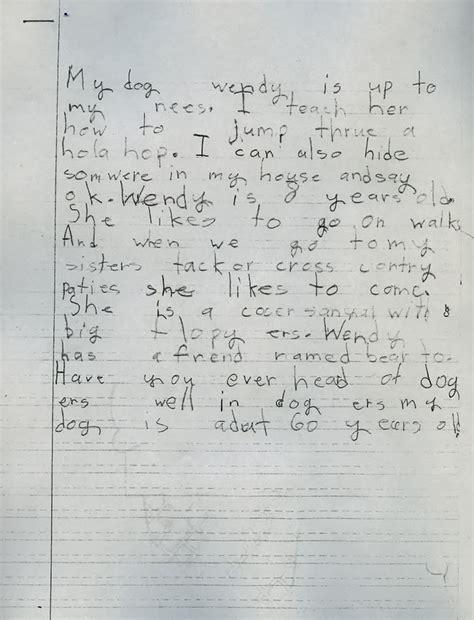 2nd grade handwriting writing