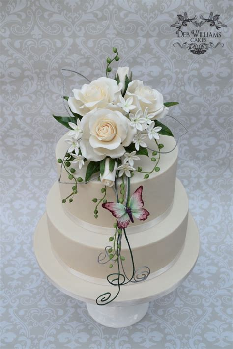 sugar flowers wedding cake cakecentralcom
