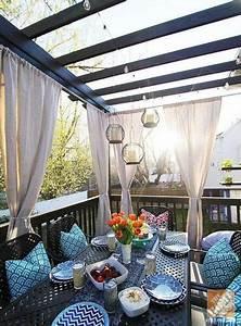 41, Ideas, Backyard, Deck, Decorating, Ideas, Curtains