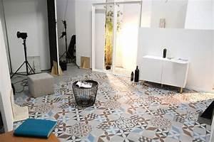 Dalle Vinyle Carreau De Ciment : vinyle carreaux de ciment ~ Premium-room.com Idées de Décoration