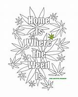 Coloring Weed Adult Printable Marijuana Adults 420 Sheets Smoking Second Where Leaf Stoner Pot Cannabis Colouring Hippie Artful Colorare Maker sketch template