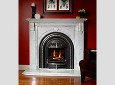 Windsor gas fireplace with Cheladon marble mantel Ideas