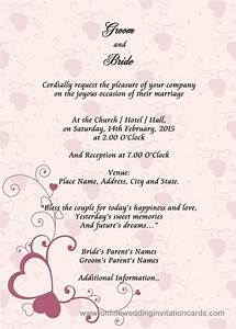 sample wedding card invitation wedding gallery With wedding invitations sample pdf